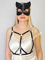 Комплект портупея на грудь и маска кошки 930817, фото 1