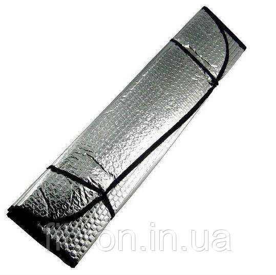 Шторка сонцезахисна, лобова 145х70 см.,срібна