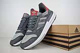 Мужские кроссовки в стиле Adidas ZX 500 серые с красным, фото 4