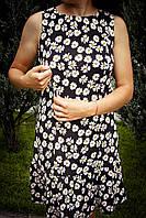Летнее платье с оборкой для кормящих Ромашка
