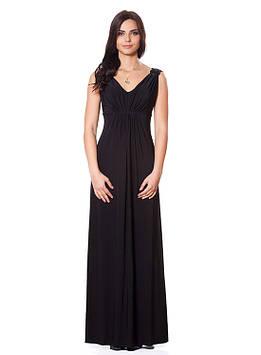 Черное вечернее платье в пол (размеры S-XL)