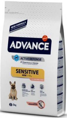 Advance Dog Mini Sensitive Корм для взрослых собак мелких пород3 кг