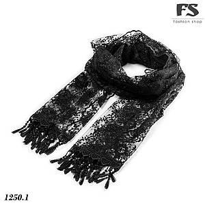 Чёрный лёгкий  шарф