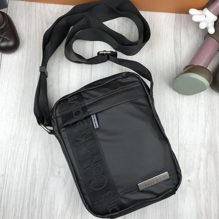 Молодежная сумка планшетка Calvin Klein черная мужская Качество Турция сумка Кельвин Кляйн Брендовая копия