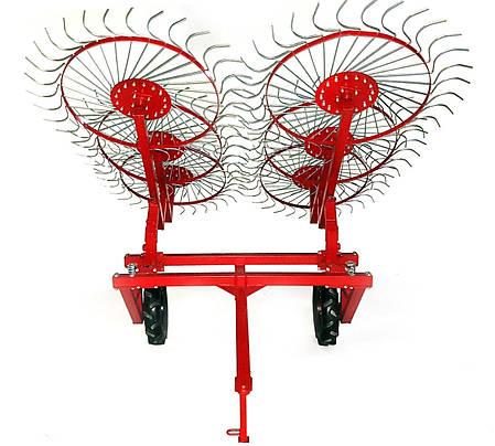Грабли колесно-пальцевые «Солнышко» на 6 колес для мототракторов и минитракторов, фото 2