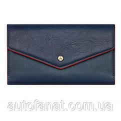 Оригинальный женский кошелек Mercedes-Benz Wallet, Blue, Polyurethane (B66953728)