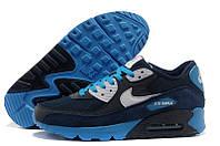Кроссовки мужские Nike Air Max 90 (Оригинал), кроссовки найк аир макс 90, синие кроссовки nike