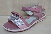 Детские босоножки на девочку розовые с камнями тм Тom.m р. 25,28