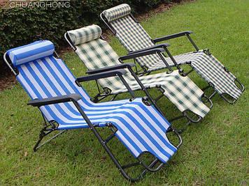 Крісло шезлонг трансформер 2 в 1 як крісло і як роскладушка трансформується з підголовником