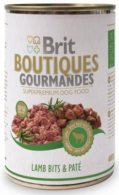 Консервы для собак Брит-Brit Boutiques Gourmandes с ягненком 400 гр, фото 2