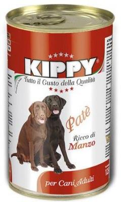 Влажный корм для собак KIPPY Консервы Киппи с кусочками говядины 1,25 кг