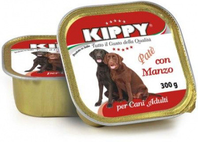Консервы для собак KIPPY Влажный корм паштет с говядиной 300 гр