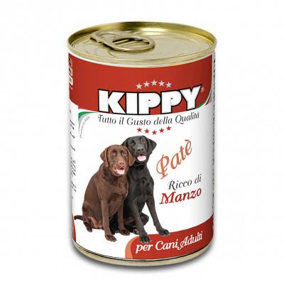 Консервы для собак KIPPY Влажный корм паштет с говядиной 400 гр