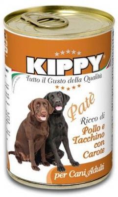 Консерви для собак Киппи - KIPPY паштет з куркою та індичкою 400 гр