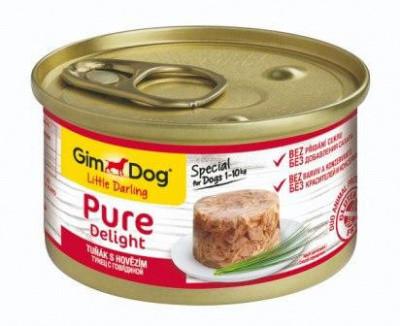 Вологий корм для собак GimDog LD Pure консерва тунець з яловичиною 85 гр