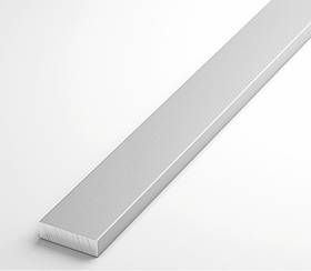 Полоса алюминиевая Braz Line 8х2.0 мм анод серебро 2 м