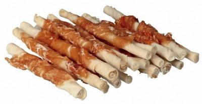 Лакомство для чистки зубов Палочки с курицей для собак DENTAfun Trixie 12 см х 70 гр  6шт, фото 2