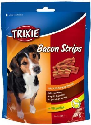 Лакомство Деликатесы для собак Trixie Bacon Strips с беконом 85 гр