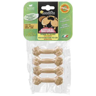 Лакомство Кость прессованная для собак NATURAL BONE вкус ягненка XS 4 шт х 15 гр