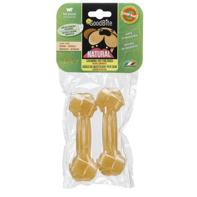 FerpLast NaturaL Лакомства для собак Goodbite Bone вкус злаки M 2 шт х 70 гр, фото 2
