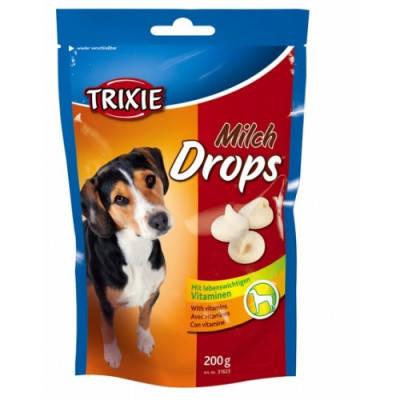 Вітамінізоване ласощі для собак Trixie Drops, з молоком 200 гр, фото 2