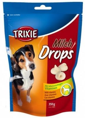 Витаминизированное лакомство для собак Trixie Drops, с молоком 350 гр