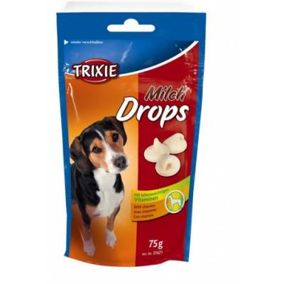 Витаминизированное лакомство для собак Trixie Drops, с молоком 75 гр