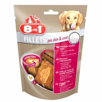 Ласощі для собак 8in1 Fillets Pro Skin&Coat з курячим філе S 80 гр, фото 2