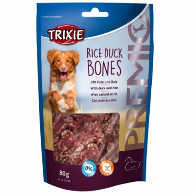 Ласощі для собак Trixie PREMIO Rice Duck Bones качка рис 80 гр