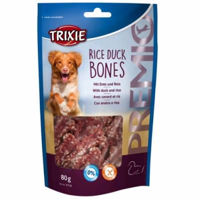 Ласощі для собак Trixie PREMIO Rice Duck Bones качка рис 80 гр, фото 2