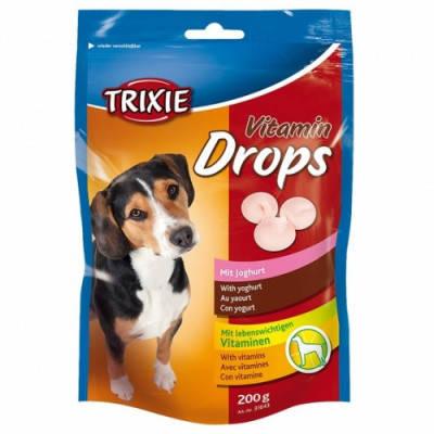 Витаминное лакомство для собак Trixie Drops с йогуртом 200 гр, фото 2