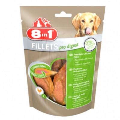 Лакомство для собак 8in1 Fillets Pro Digest с куриным филе S 80 гр