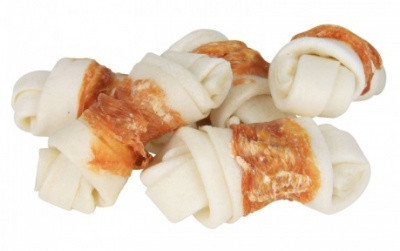 Косточки для чистки зубов Лакомства с курочкой для собак Trixie DENTAfun 5 см х 70 гр 5шт