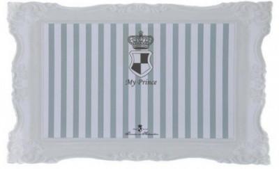 Trixie My Princess килимок під миски для собак і котів, сірий 44х28 см
