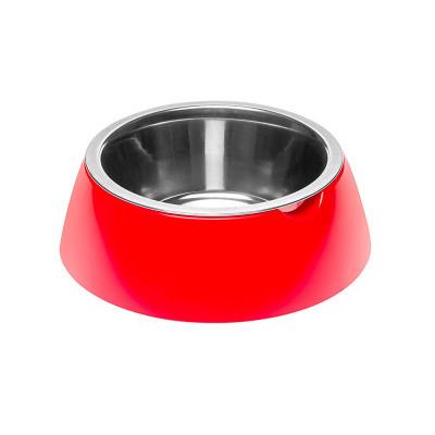 Миска с подставкой для кормления собак FerpLast (Ферпласт) JoLie, S/0,5 л, красная