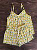 Пижама хлопковая с шортами Лимоны
