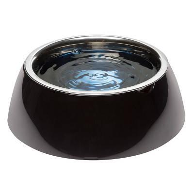 Миска с подставкой для кормления собак FerpLast (Ферпласт) JoLie, L/1,2 л, черная, фото 2
