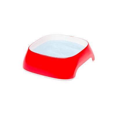 Пластиковые миски для собак и кошек FerpLast (Ферпласт) GLam, Extra S/0,2 л, красный, фото 2
