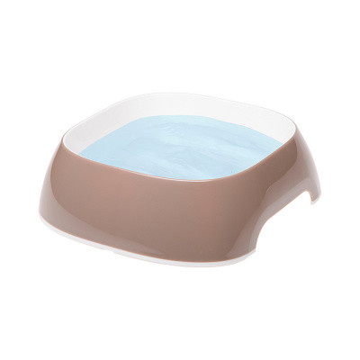 Пластикові миски для собак і кішок FerpLast (Ферпласт) GLam, S/0,4 л, бежевий