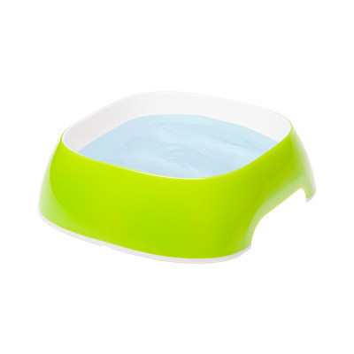 Пластиковые миски для собак и кошек FerpLast (Ферпласт) GLam, S/0,4 л, зеленый