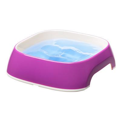 Пластиковые миски для собак и кошек FerpLast (Ферпласт) GLam, М/0,75 л, фиолетовый