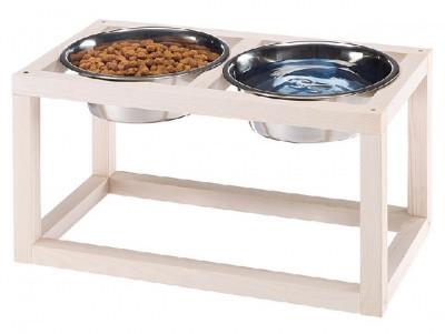 Миски для собак на деревянной подставке Ferplast Desco Wood, 0,7/5,6 л