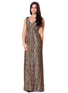 Длинное леопардовое платье (размеры S-XL)