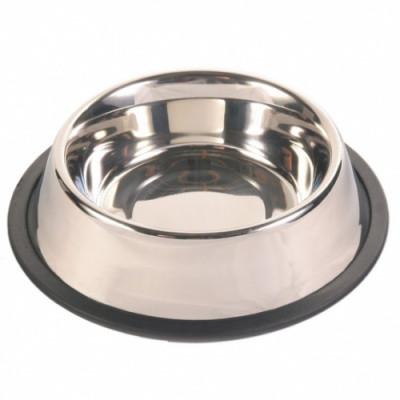 Миска для собак металлическая с резиновым основанием Trixie (Трикси), 1,8 л/20 см