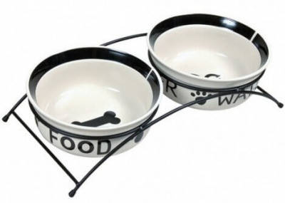 Подставка с керамическими мисками для собак Trixie Eat on Feet, 1,6 л/20 см, фото 2