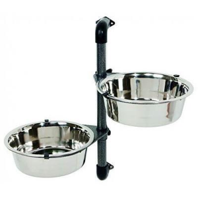 Настенный штатив Trixie c мисками для кормления собак, 2 шт х 28 л