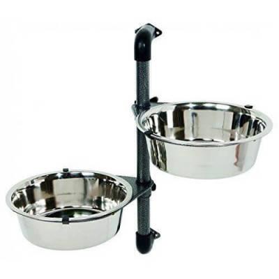 Настенный штатив Trixie c мисками для кормления собак, 2 шт х 28 л, фото 2