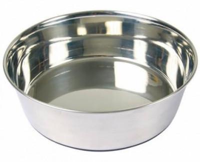 Trixie Миска для собак металлическая с резиновым основанием, 2,5 л/24 см
