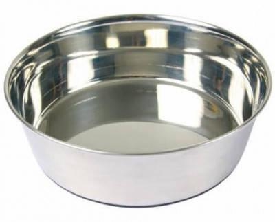 Trixie Миска для собак металлическая с резиновым основанием, 2,5 л/24 см, фото 2
