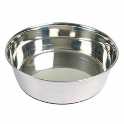 Trixie Миска для собак металлическая с резиновым основанием, 1 л/17 см